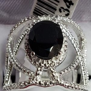 Thai Black Spinel Ring NWT